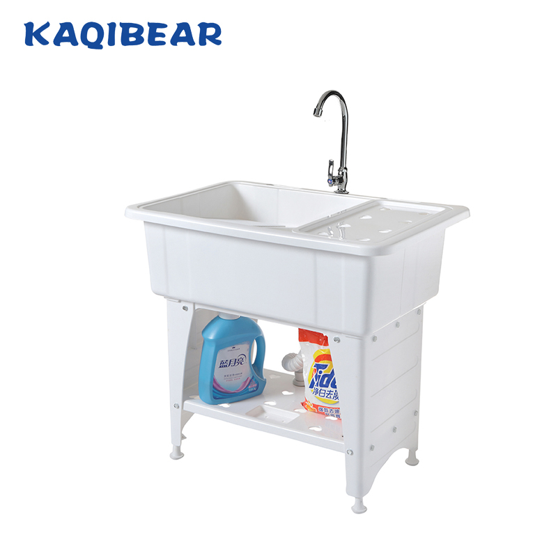 Plastic Washing Sink With A Washboard