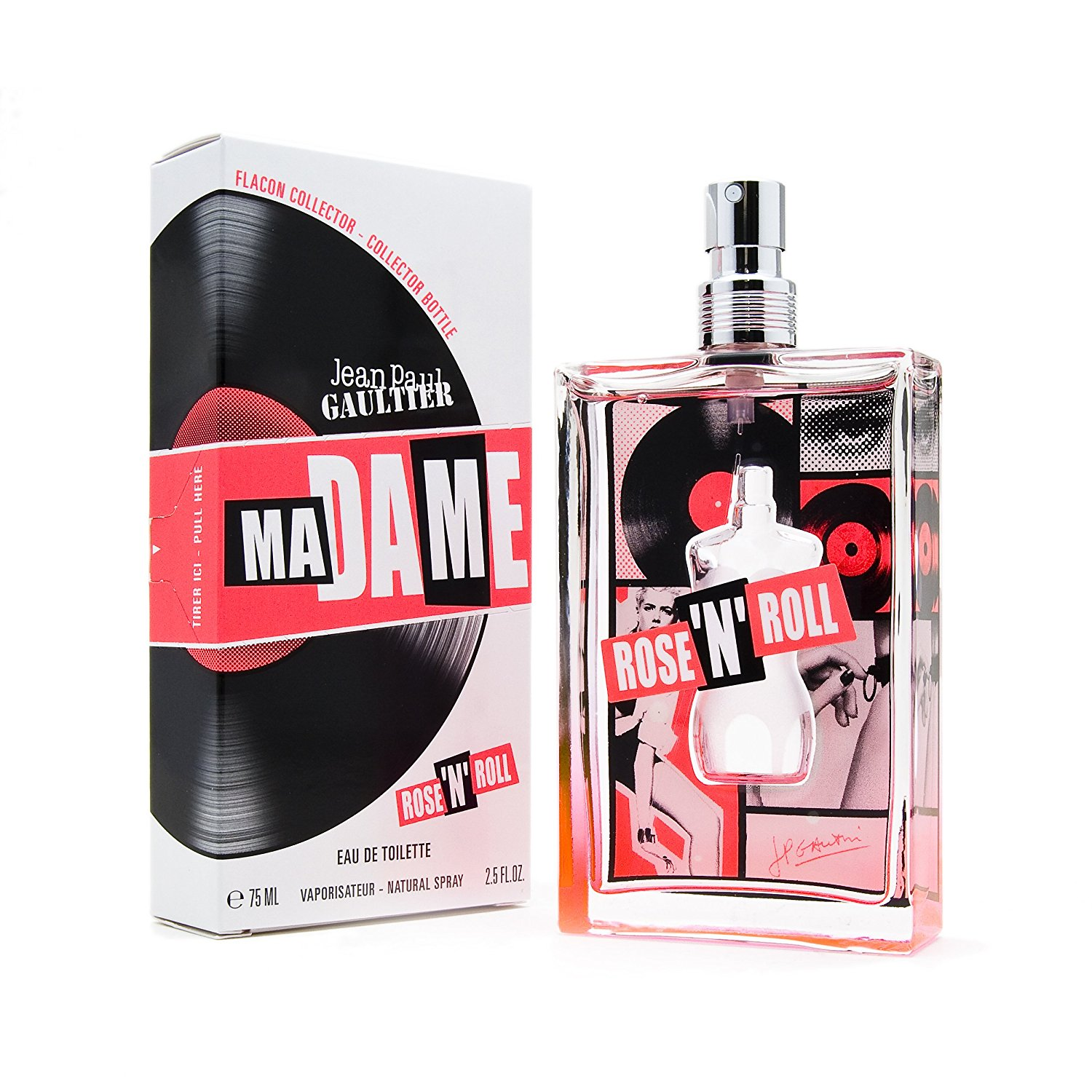 Madame Rose 'N' Roll By Jean Paul Gaultier For Women. Eau De Toilette Spray 2.5 Oz / 75 Ml