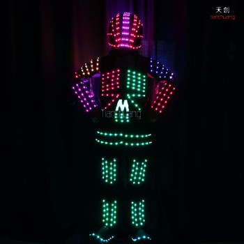 Light Up Adult Costumes Performer Show Dance El Wire Led Robot Tron ...