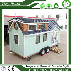 moveable wood prefab tiny house for living