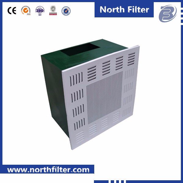 Efficient air supply unit/High efficiency filter outlet hepa box for AHU with smooth diffuser plate