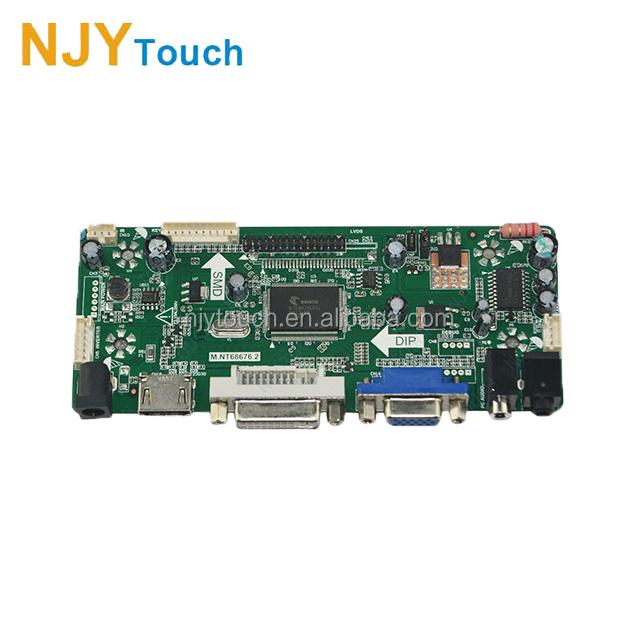 M.NT68676.2A HDMI DVI VGA Audio LCD LED Screen Controller Board Kit Set CN