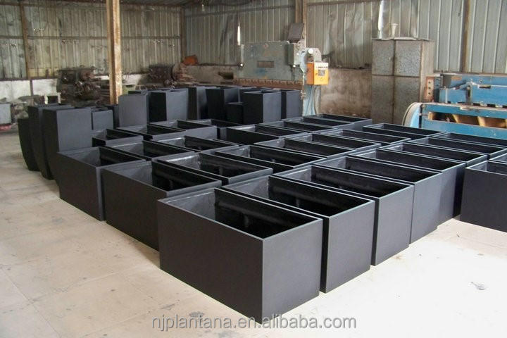 Pots de fleurs rectangulaire en fiber de verre pots de for Macetas rectangulares grandes