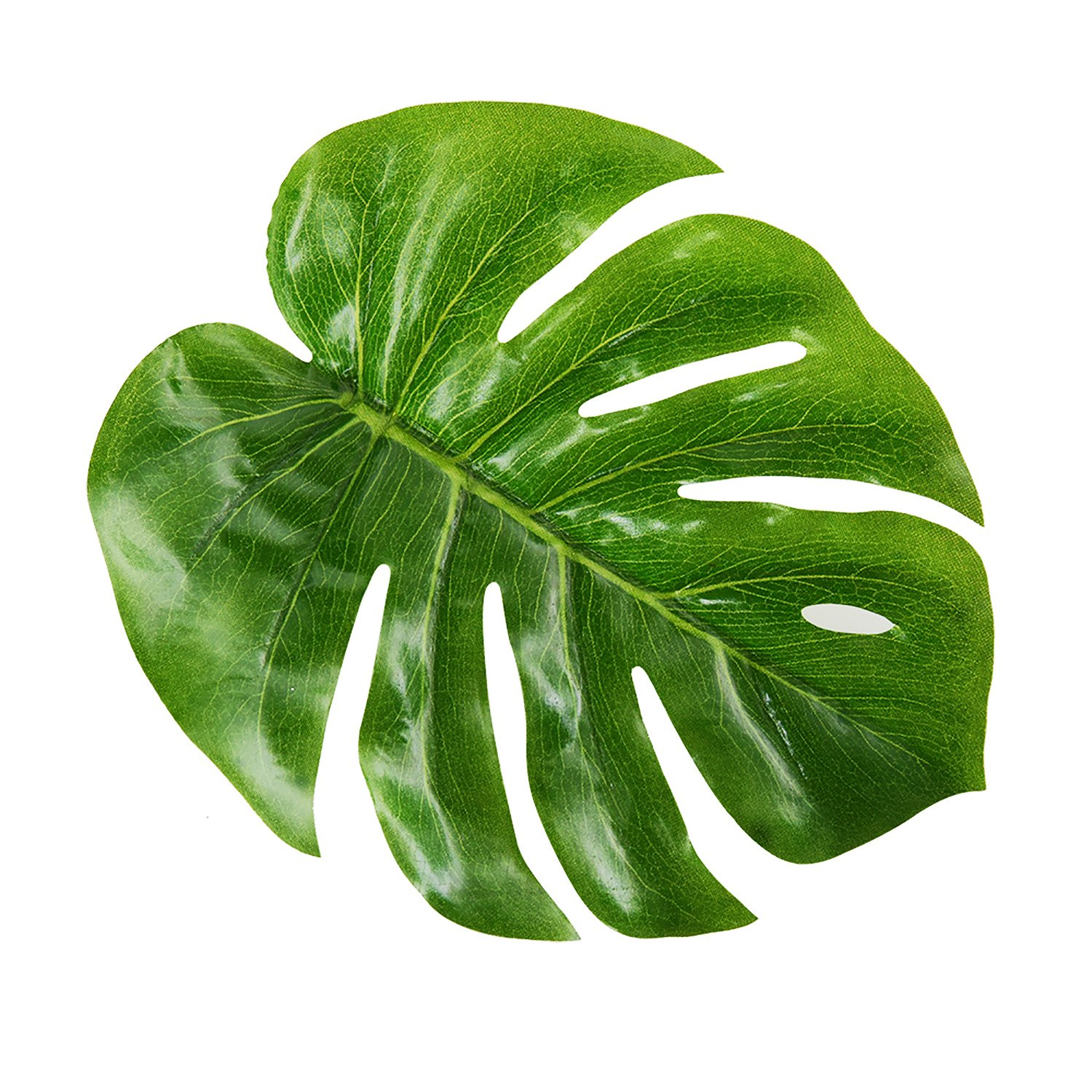 Blulu 18 Pack Tropical Imitation Plant Leaves, 8 Inches, Green