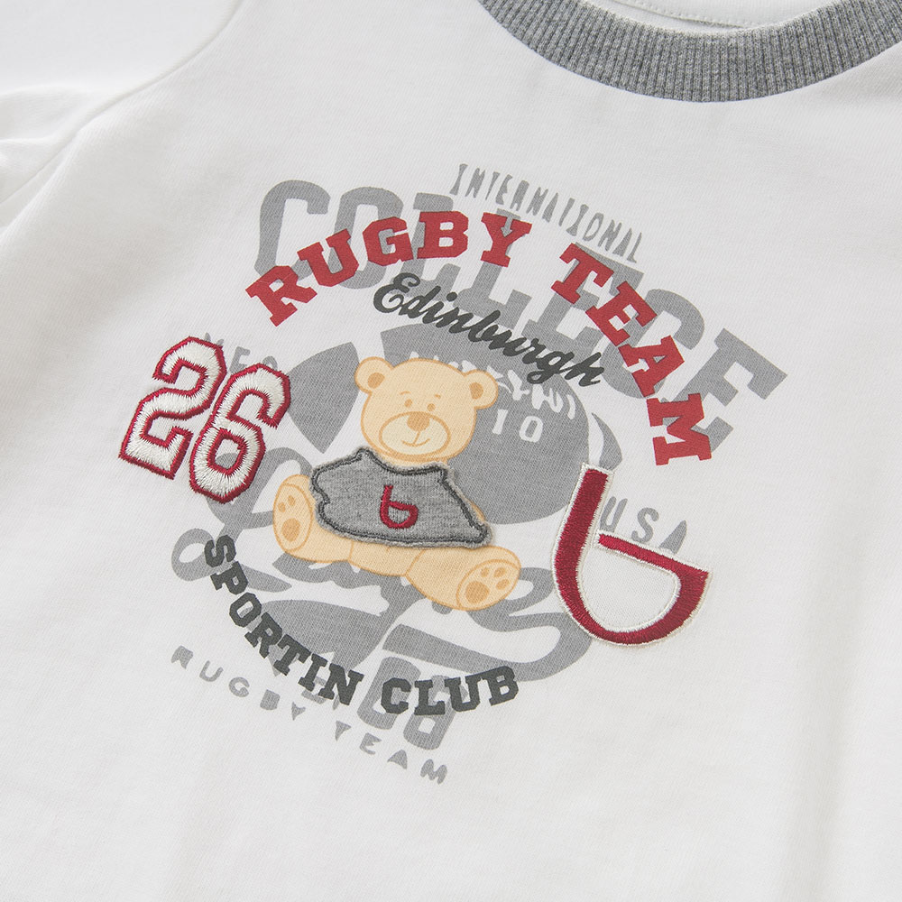 DB5502 dave bella autumn baby boys bear printed t-shirt baby cool top children high quality tees