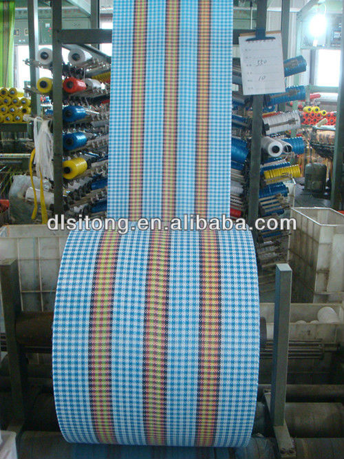 China Factory Wholesale 100% New Virgin Polypropylene Material PP Raffia Tubular Fabric in Roll