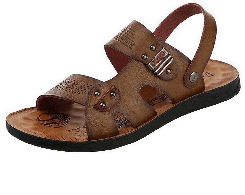 f56d2ab0822e0 Get Quotations · Vocni Men s Open Toe Casual Leather Comfort Shoes Sandals  Mens Leather Sandals Men Open Toe Sandals