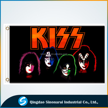 America Classic Music 3x5ft Polyester Custom Kiss Band Flags