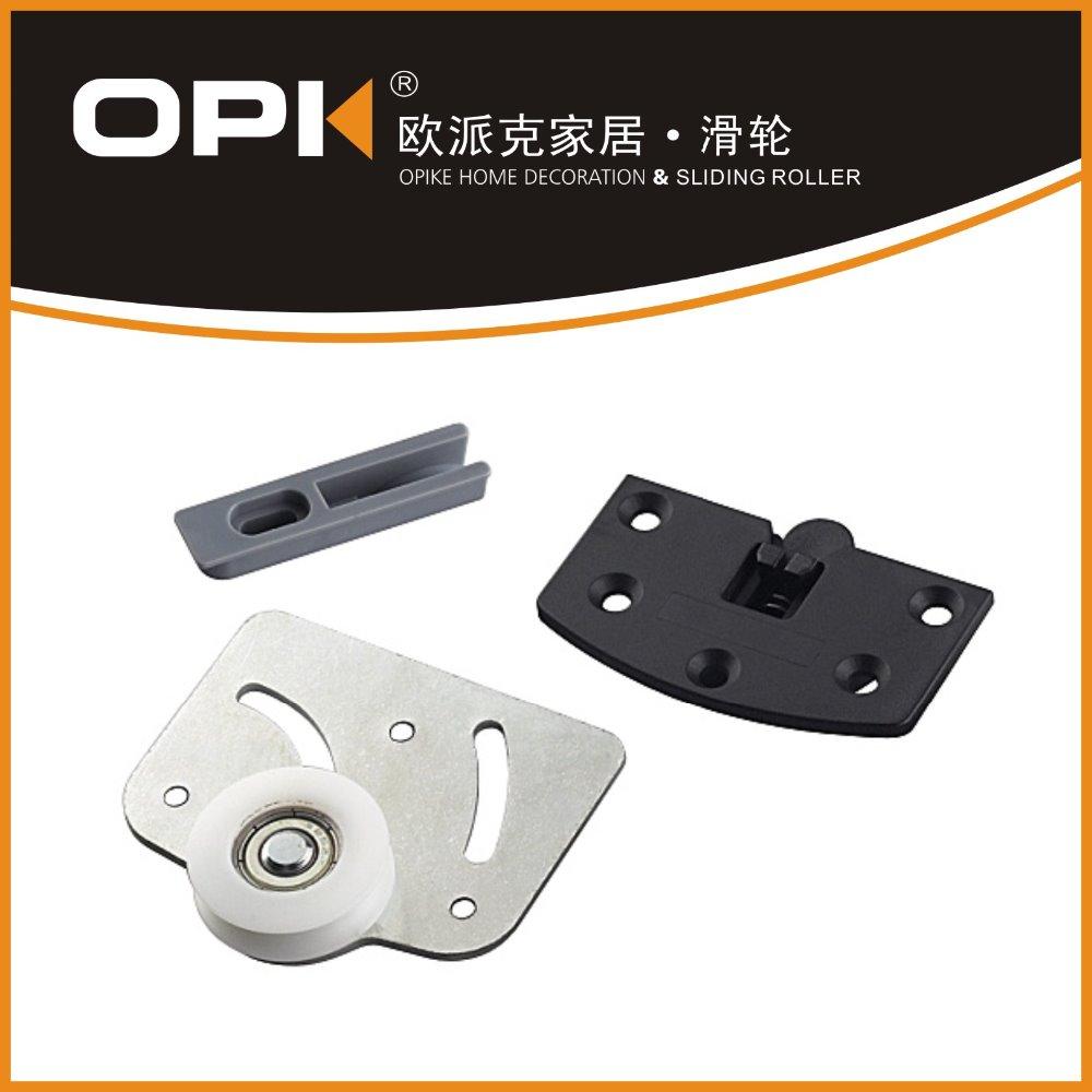 Steel Sliding Door Rollers Wheel Galvanized Steel Plate Concave