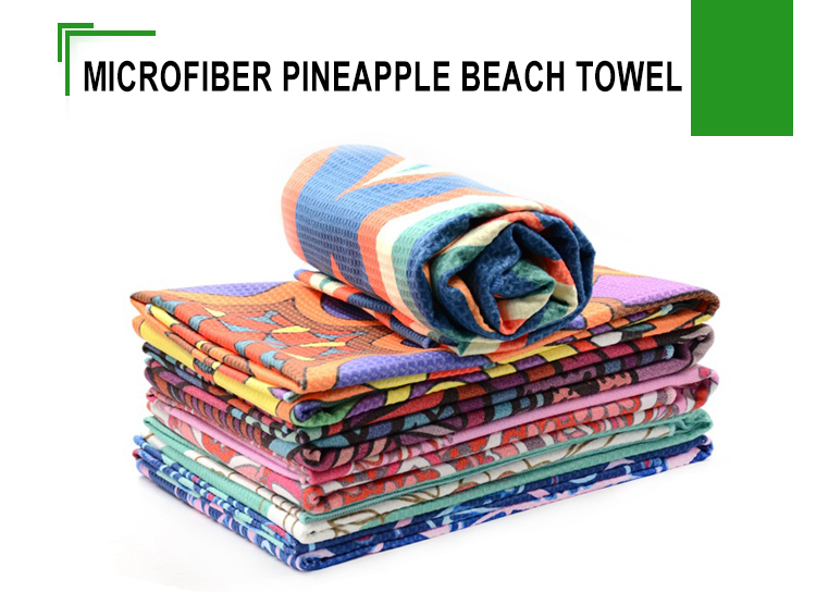 Bulk beach towels pineapple baby towel180 x 80 microfiber beach towel