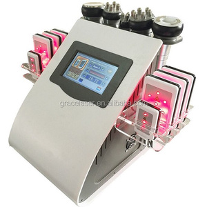 6 in1 RF polar +40K Cavitation + RF vacuum+Bipolar+tri-polar Body Slimming Machine