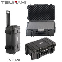 TSUNAMI hard tool case with wheel for transport
