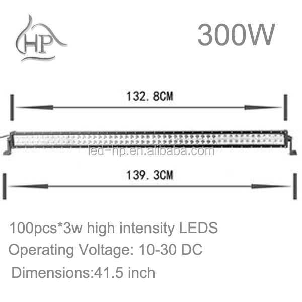 Hot sales 41.5 inch 6000K 300W Black/White programmable led light bar