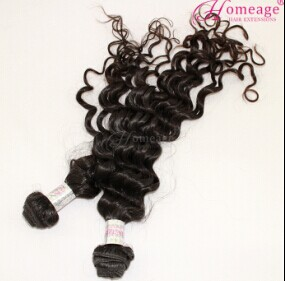 homeage large stock natural color virgin raw indian curly hair wholesale