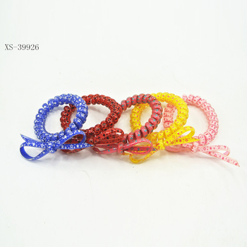 Plastic Spiral Hair Bands Elastics Hair Ties For Women af79b1b4a99