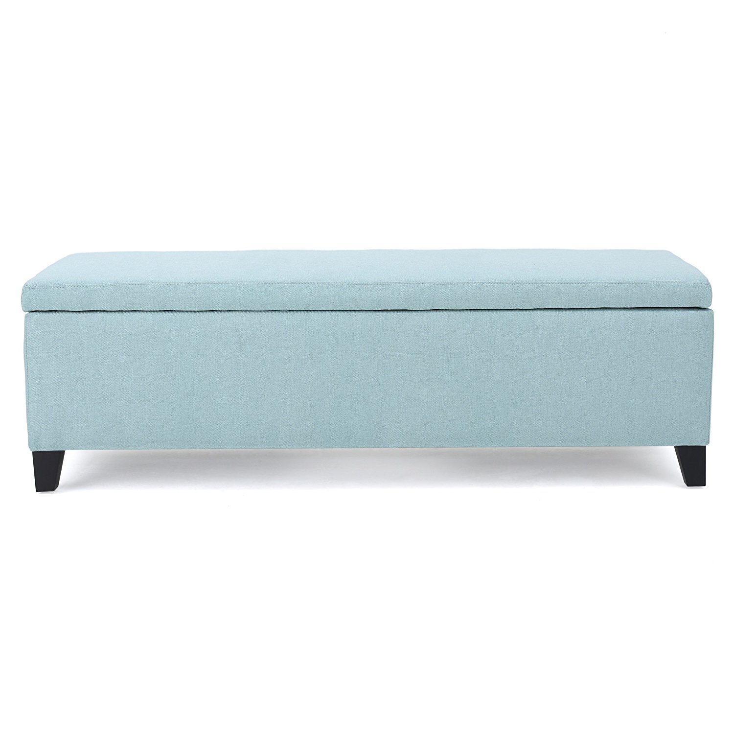 Get Quotations · Clor Light Blue Fabric Storage Ottoman