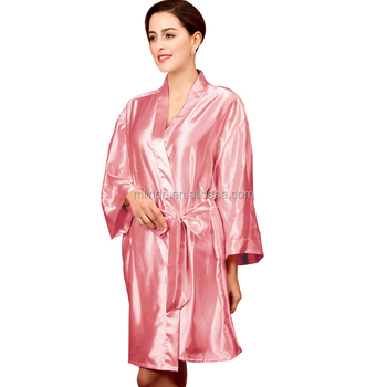 OEM Women Fashion Kimono Style Stain Silk Fashion Soft Shiny Sleepwear  Bathrobes Robes Wholesale Custom Pajamas 3abbaf4c5