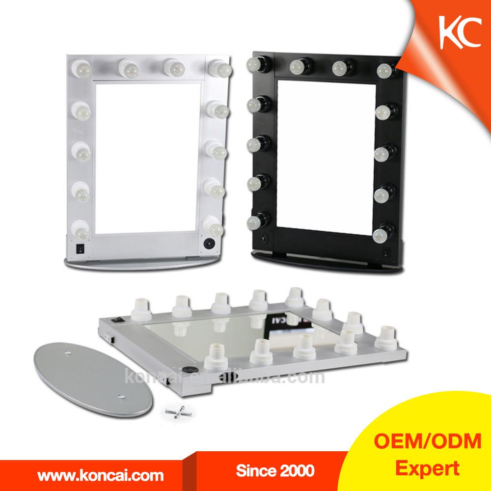 Mooi design schoonheid station meubels kleine geleid make-up spiegel met verlichting lampen ...