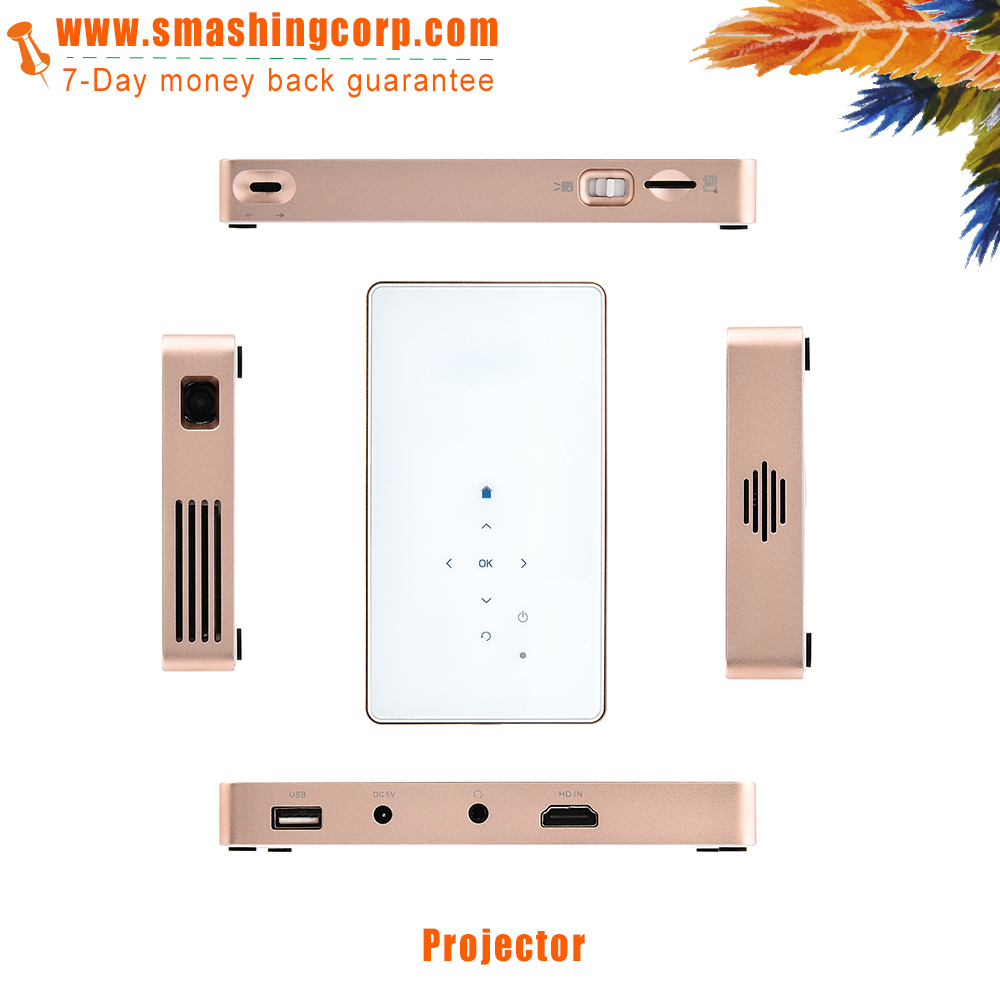 custom 4k HD mini led projector dlp mobile projector for ios android portable projector as gift