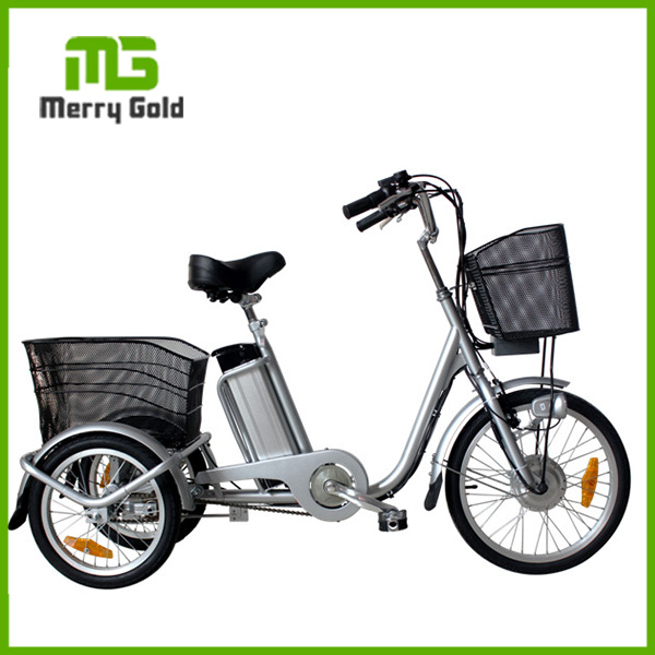 alloy wheel electric bicycle 3 wheel motorized bike three wheel cargo tricycle