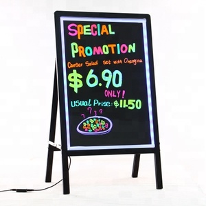 china manufacturer new inventions flashing led neon menu sign board in alibaba