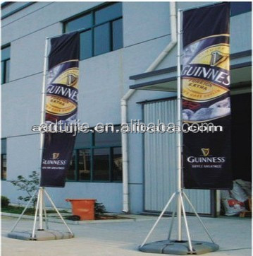 5m telescopic outdoor advertising flag pole <strong>display</strong> with water base