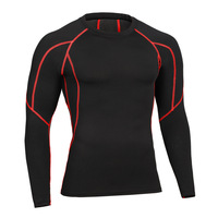 New Arrival Men Long Sleeve T-Shirts Baselayer Cool Dry Compression for Running