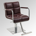 Commercial Furniture Brown Styling Chair 2019 Newest Design Modern Stainless Steel Base Brown Styling Chair for Salon