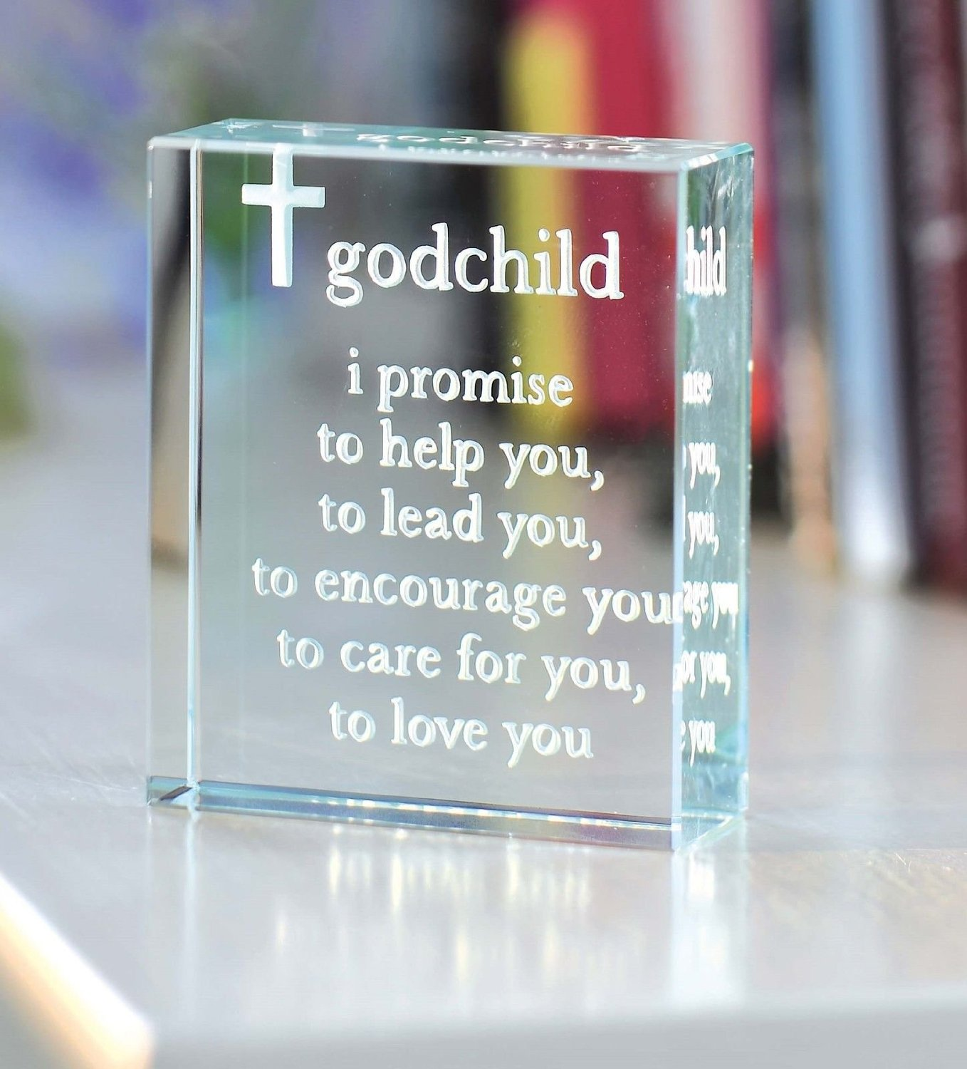 Spaceform Christening Gift Ideas Glass Keepsake Godchild Godparent Baptism