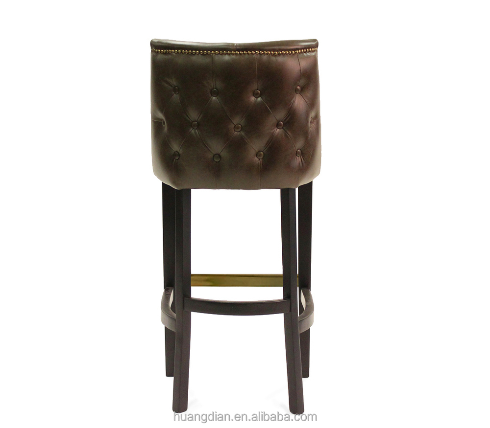 cheap american retro leather bar stool high chair furniture  - cheap american retro leather bar stool high chair furniture chineserestaurant furniture