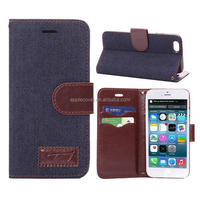 Christmas mobile phone shell for iphone 6,Jeans design leather cover