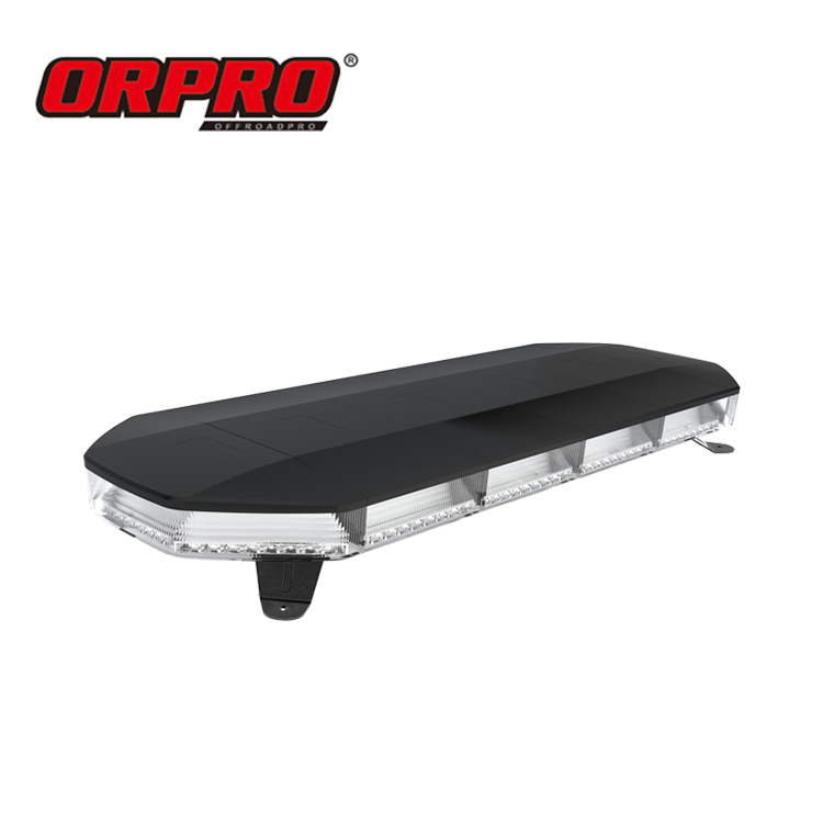 Orpro 31 Inch 128 W Merah Biru Amber Light Bar LED Warning Light Bar LED Peringatan Lampu Truk Emergencyvehicles
