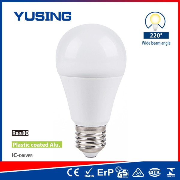 Factory PC + Aluminum 7W LED Light A60 E27 LED Bulb Fixtures