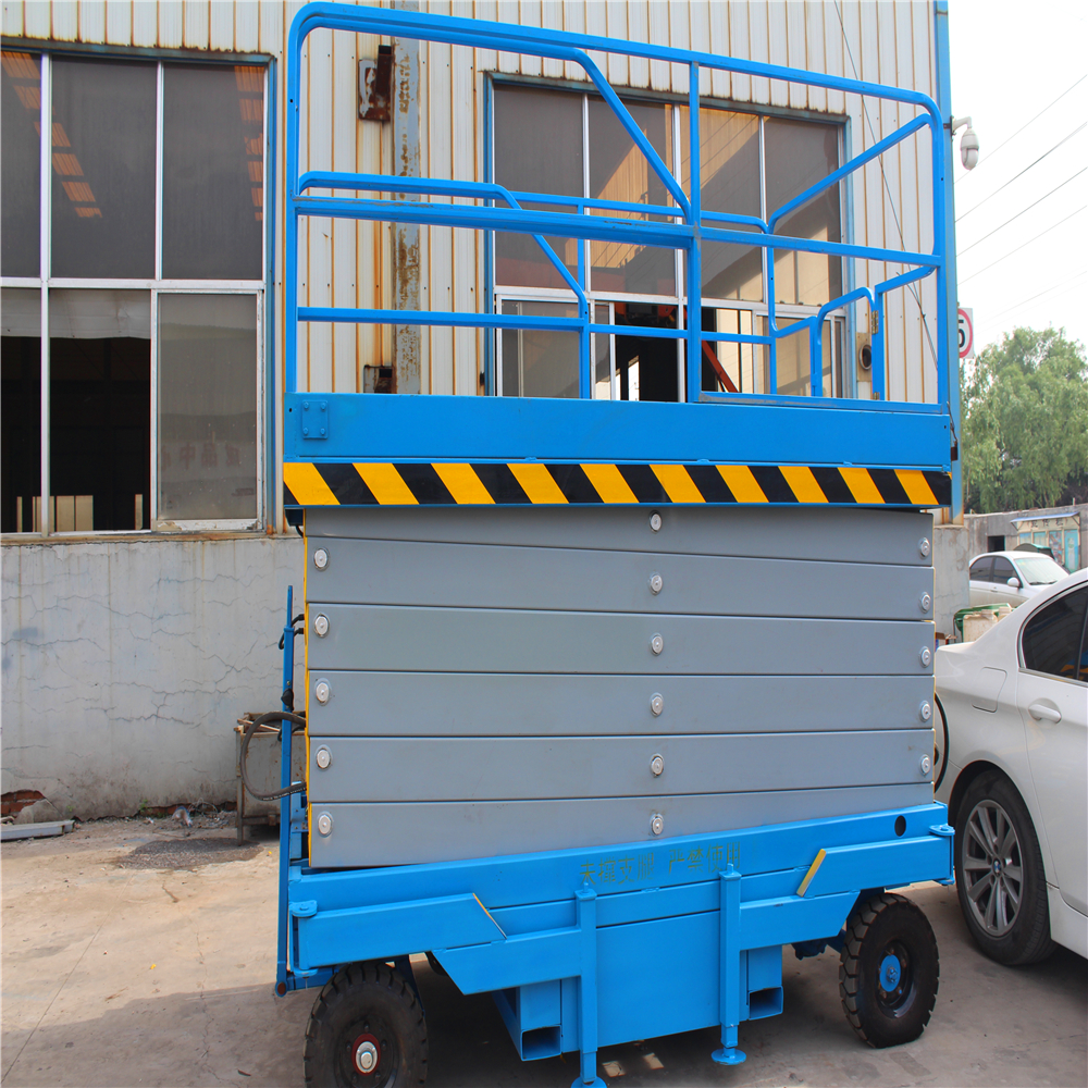Hydraulic Table Lift High Building Cleaning Equipment Scissor Lift