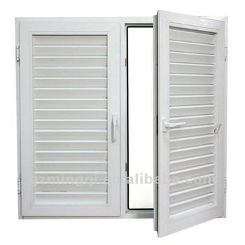 Pvc Frame Plantation Shutters Casement Windows Window With Shutter Basement