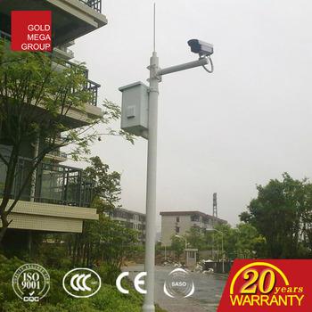 Zinc Coating Pole Mounting Brackets Lighting Pole Cctv