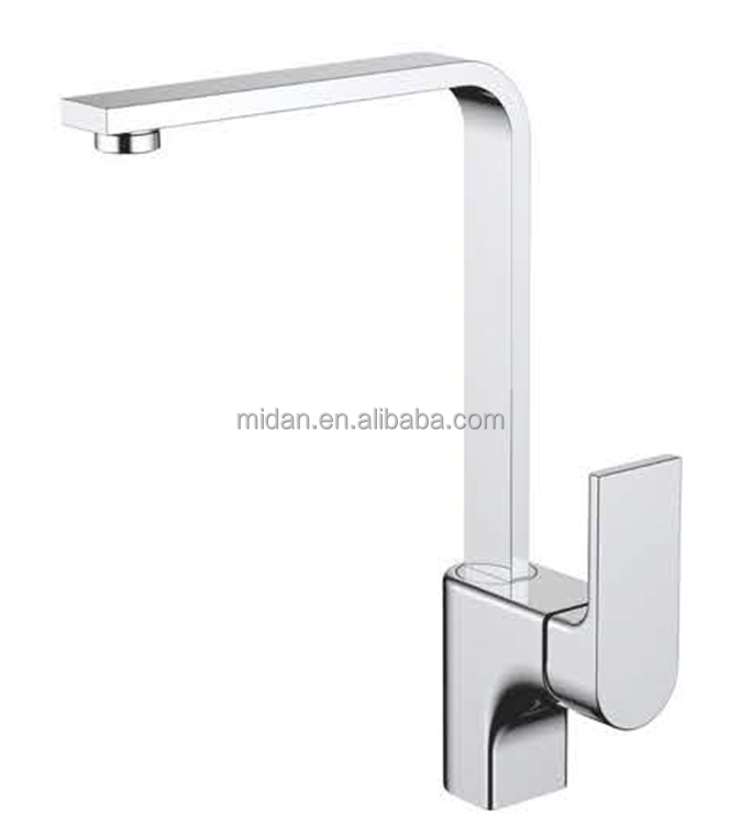 High Quality Chrome Solid Brass Strong Water Power Kitchen Faucet Sink Mixer Tap