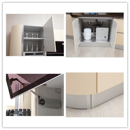 Prefab High Gloss Vinyl Wrap Doors Cheap Indian Kitchen Cabinet Part 39