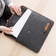 Amazon Hot Sales 가죽 felt laptop briefcase sleeve case bag