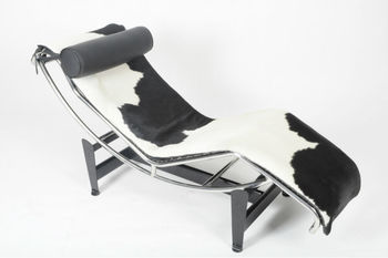 le corbusier lc4 chaise lounge chair in pony leather - Le Corbusier Chair