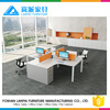 High end workstation furniture ergonomic workstation combining with fixing cabinet LB-09