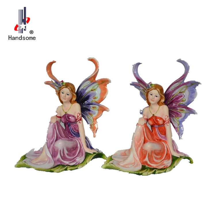 Hot-selling China Wholesale Art Work Resin Craft Fairy Solar Led Light