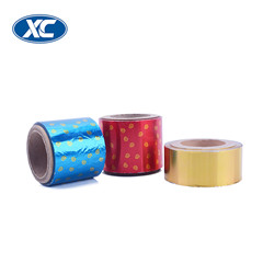 pass SGS colored wine bottle shape corrugated aluminium foil chocolate wrapping paper