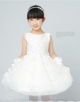 2017 latest wholesale wedding frock designs pictures cute kids stain white beaded girls party bridesmaid dresses
