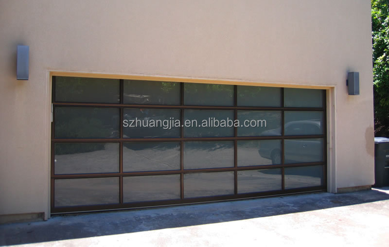 Windproof Motorized Frosted Aluminum Glass Roll Up Doors