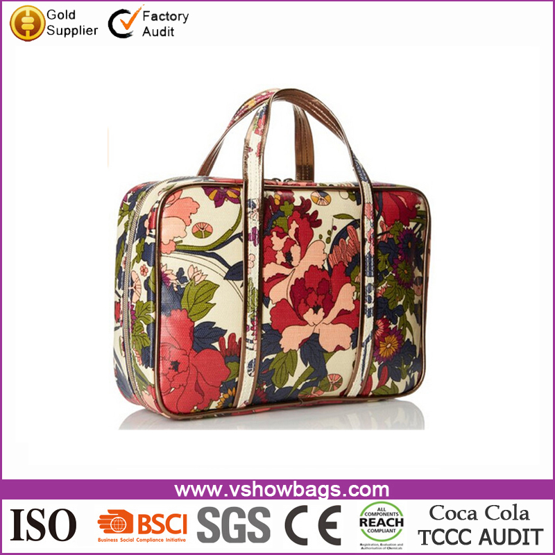 Fashion Artist Circle Critter Canvas Coated Travel Case Cosmetic Bag