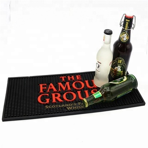Custom soft pvc rubber 3d logo bar drink rail spill beer mat
