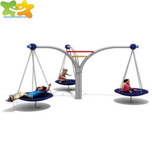 Factory direct supply plastic kids outdoor play swing slide set