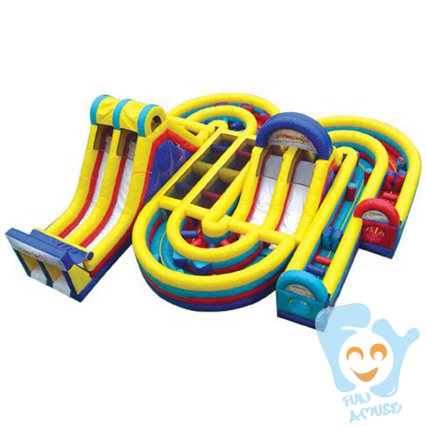 hot sale PVC TARPAULIN adult inflatable obstacle course