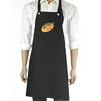 AZO free LOGO embroidery durable bib chef apron uniform